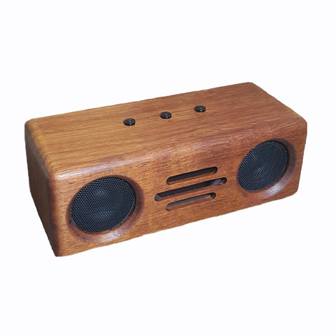 IWISTAO Bluetooth Speaker 2x12W Handmade Vintage Pure Solid Wood CSR64215 Bluetooth 4.2 APT-X