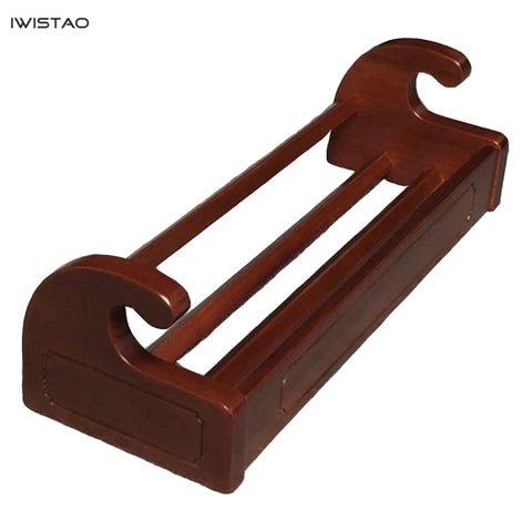 IWISTAO CD Disc Collection Holder Imported Sapele Wood 480mm*180mm*140mm