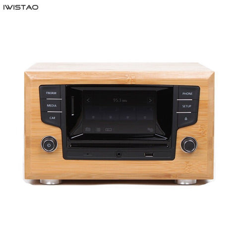 IWISTAO CD Player Bluetooth 4.0 Full Bamboo Casing AM / FM Tuner Integrated MP3 WMA Apt-x U Disk SD Card Playing