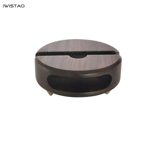 IWISTAO Empty Wooden Speaker Loudspeaker Unplugged Solid Wood Smartphone Base