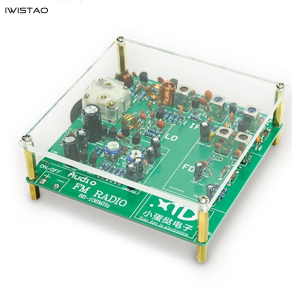 IWISTAO FM Radio Tuner Finished Board Fully Separated Components DC6V Battery Supply