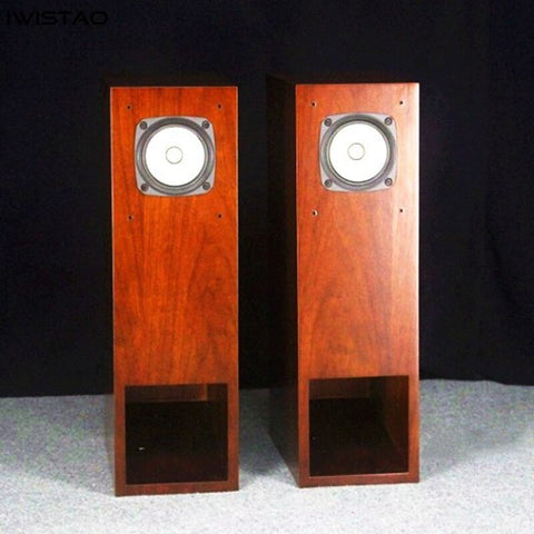 IWISTAO FOSTEX FE126En Full Range Speaker Finished 1 Pair Labyrinth Back Loaded Plus Bass Reflex Hybrid Speaker Enclosure