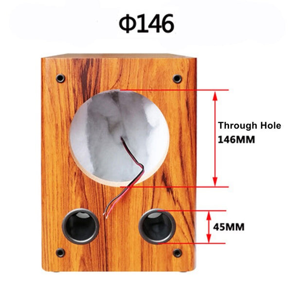 IWISTAO Full Range Speaker Empty Cabinet for 6.5 inches Passive Speaker Enclosure Wood High Density MDF Board Volume 16L DIY