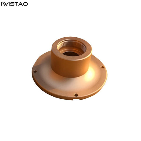IWISTAO HIFI 1 inch American Standard 34 Internal Thread Horn's Adapter 1 Pair Aluminum Alloy for Super Tweeter UHF Unit Gold