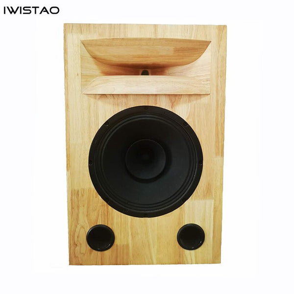 IWISTAO HIFI 12 Inches Bass Speaker Plus Tweeter Horn Empty Cabinet 1pc Solid Wood Inverted No Speaker Unit for Tube Amp DIY