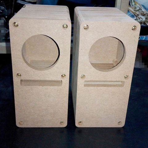 IWISTAO HIFI 2 Inch Labyrinth Full Range Speaker Empty Cabinet 1 Pair MDF Wood Board Audio DIY