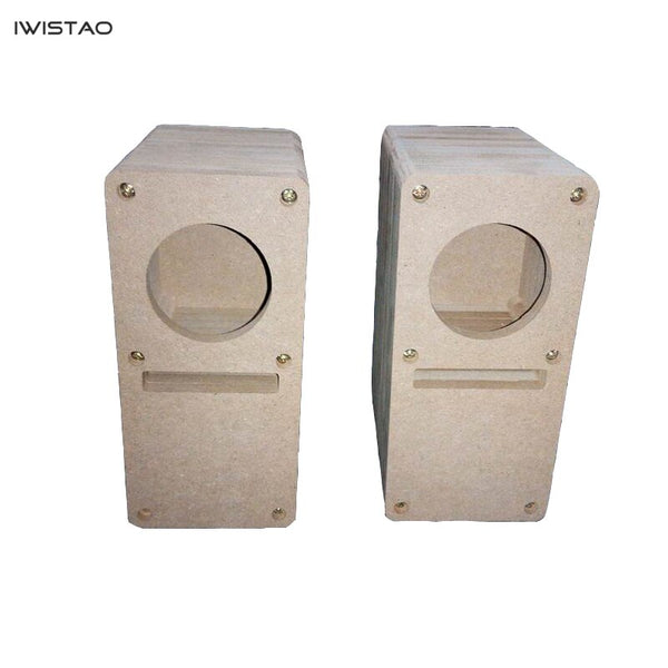 IWISTAO HIFI 2 Inch Labyrinth Full Range Speaker Empty Cabinet 1 Pair MDF Wood Board Adhesive-Free Design