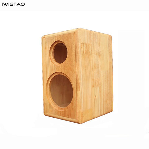 IWISTAO HIFI 2 Way 4/5/6.5 Inch Bookshelf Solid Wood Empty Speaker Cabinet 1 Pair Inverted Italy Style for Tube Amplifier