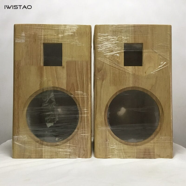 IWISTAO HIFI 2 Way Sealed Speaker Empty Cabinet 8 Inches 1 Pair Finished Pure Solid Wood  for Tube Amplifier
