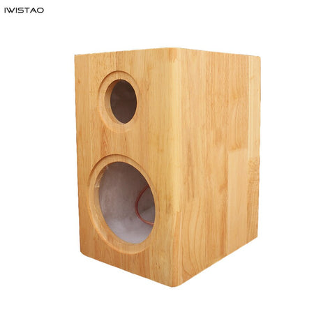 IWISTAO HIFI 2 Way Empty Speaker Cabinet 4 to 8 Inches 1 Pair Finished Pure Solid Wood Inverted for Tube Amplifier