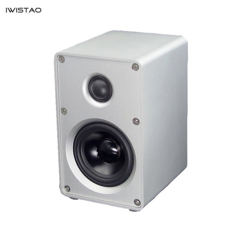 IWISTAO HIFI 2 Way 3 Inch Speaker Aluminum Casing 1 Pair Bookshelf  40W 60HZ-20KHZ Black/White