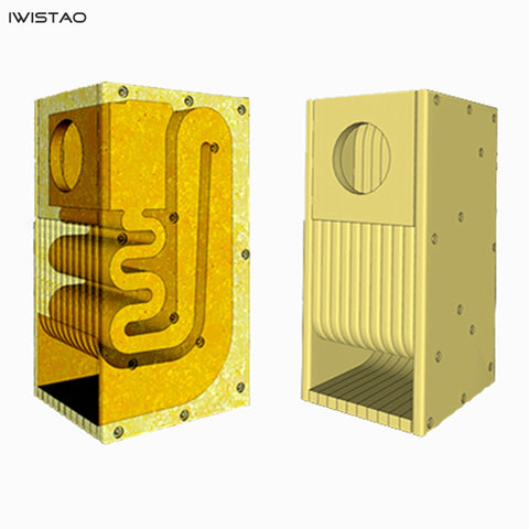 IWISTAO HIFI 3~4 Inches Full Range Speaker Empty Cabinet Kits 1 Pair MDF Labyrinth Structure for Tube Amplifier