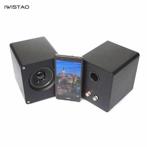 IWISTAO HIFI 3 Inch Full Range Speaker 1 Pair 2 x 15W Computer Speaker  Whole Aluminum Casing Audio