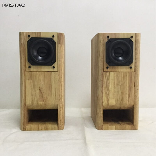 IWISTAO HIFI 3 Inch Full Range Speaker Finished 1 Pair Solid Wood Labyrinth Structure for Tube Amp