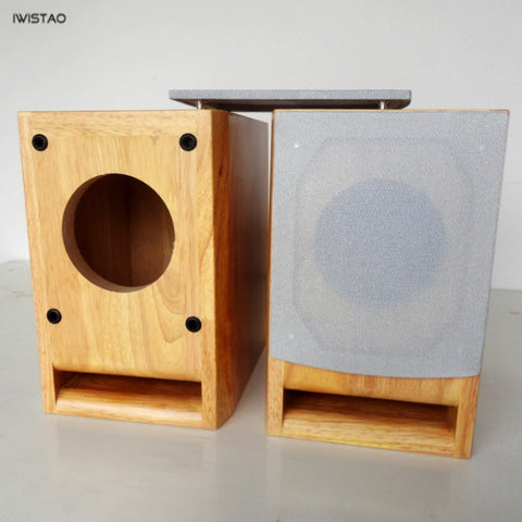 IWISTAO HIFI 3 to 6.5 inch Full Range Speaker Empty Enclosure 1 Pair Solid Wood Labyrinth DIY Audio