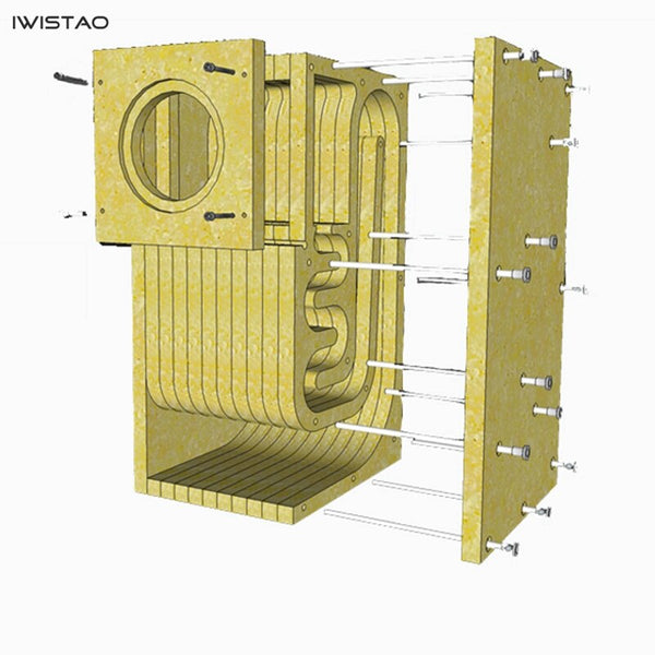 IWISTAO HIFI 4~6 Inches Full Range Speaker Empty Cabinet Kits 1 Pair MDF Labyrinth Structure