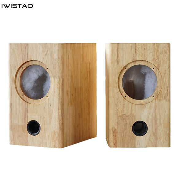 IWISTAO HIFI 4 Inch Empty Speaker Cabinet Solid Wood 1 Pair 7.6L Inverted for Mark 4 inch Full Range Unit