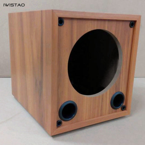 IWISTAO HIFI 6.5 Inch Subwoofer Empty Cabinet Passive Wooden Speaker Enclosure HDF Board DIY