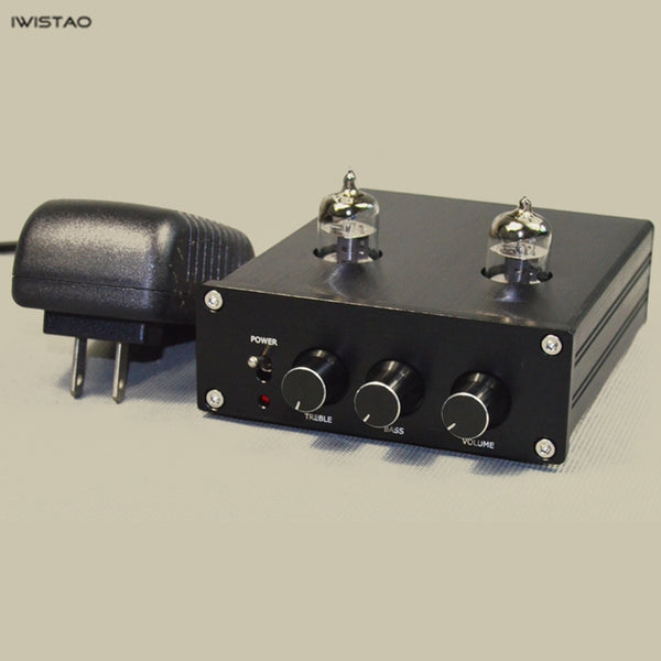 IWISTAO HIFI 6J1 Tube Premplifier with Tone Adjustment Tremble Bass Cost Effective