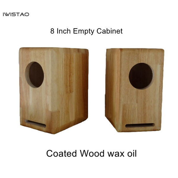 IWISTAO HIFI 8 Inch Full Range Speaker Empty Cabinet Empty Cabinet  1 Pair Finished Solid Wood Labyrinth Structure Coated for Tube Amp