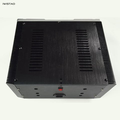 IWISTAO HIFI Amplifier Casing Class A W315*D260*H150mm Whole Aluminum Black Silver Panel DIY