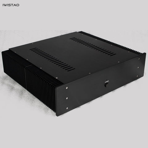 IWISTAO HIFI Amplifier Casing Class A W463*D430*H113mm Whole Aluminum Power Stage Black DIY