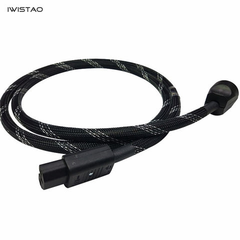 IWISTAO HIFI Power Cord Martin Kaiser AU Plug Swiss Shute 4481 Tail Plug Titanex Power Cable