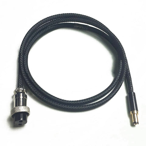 IWISTAO HIFI DC linear Power Cord Aerospace Connector GX12 to DC Plug Output 5.5*2.1mm  1.5M DIY