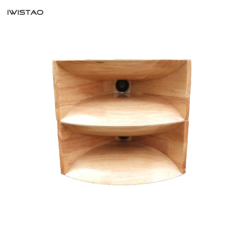 IWISTAO HIFI Empty Wood Horn Solid 1 Pair Treble Compensation for Full Range Matched Fostex FT17H Horn Wide 445mm