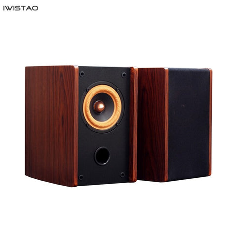 IWISTAO HIFI Full Range  4 Inch Three-band Balanced Fabric Hanging Edge Vocal 25W 75-20Khz 89dB 4/8 Ohms