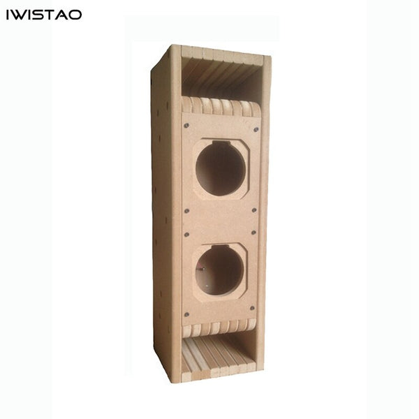 IWISTAO HIFI Full Range Speaker Empty Cabinet Kits 1 PC Center Speaker 3~4 Inch  MDF Labyrinth Structure for Tube Amp