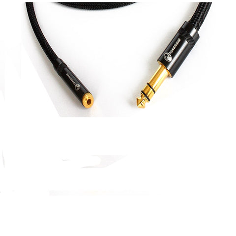 IWISTAO HIFI Headphone Extend Cable 6.35 F to 3.5 M Stereo 4N OFC Wires Gold-plated Terminals