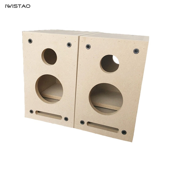 IWISTAO HIFI Labyrinth 2-way Empty Speaker Enclosure 4 Inch 1 Pair Subwoofer/Full Range Tremble Bookshelf 15mm MDF Board