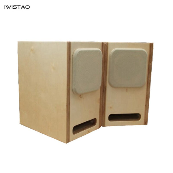 IWISTAO HIFI Labyrinth 4.5 Inch Full Range Empty Speaker Cabinet Solid Wood/Poplar Plywood 15mm Thickness Board