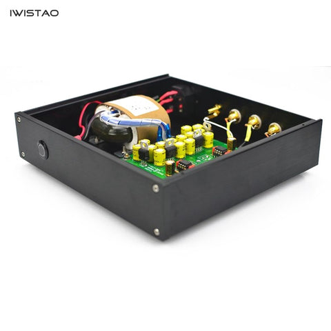IWISTAO HIFI MM Phono Amplifier RIAA  OPA604 Whole Aluminum Chassis Black AC110/220V