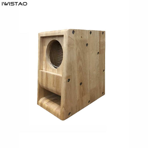 IWISTAO HIFI Speaker Empty Cabinet 5 Inches 1 Pair Finished Labyrinth Structure with Solid Wood for Full Range Speakers Unit DIY