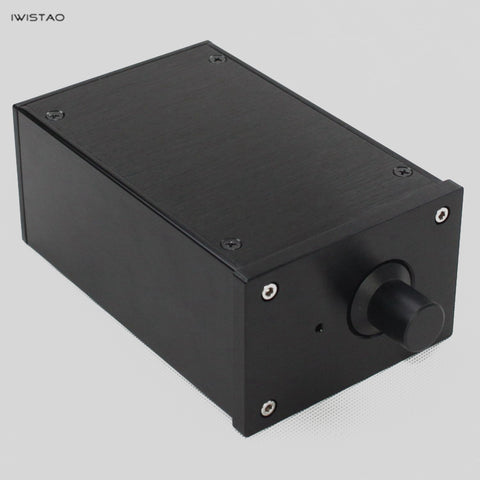 IWISTAO HIFI Tube Amplifier Casing W100*D160*H70mm Whole Aluminum No Cut Holes Black /Silver Panel