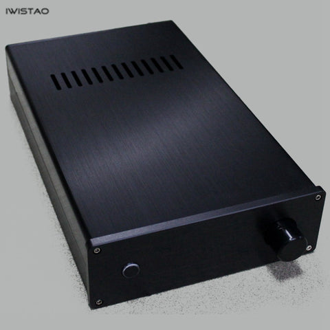 IWISTAO HIFI Tube Amplifier Preamplifier Casing W190*D315*H65mm Whole Aluminum Black Silver Panel