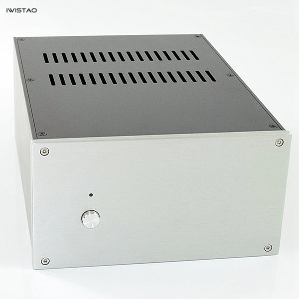 IWISTAO HIFI Tube Amp Casing W220*D308*H121mm Whole Aluminum Power Stage DAC Black /Silver Panel