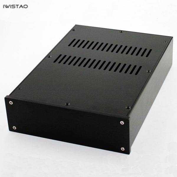 IWISTAO HIFI Tube Amplifier Casing W236*D363*H70mm Whole Aluminum No Cut Holes Black