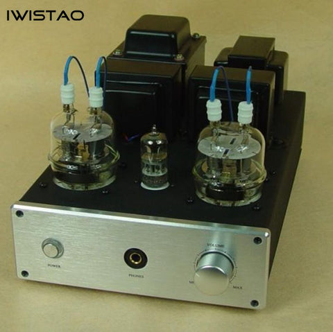 IWISTAO HIFI Tube Headphone Amp 1W output 32 to 600 ohm & Class A Tube Amp 2X8W 6N2 Drive FU32 Built 6.5mm Jack Aluminum Chassis