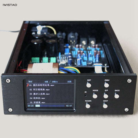 IWISTAO HIFI Digital Player MCU STM32F407ZET6 Decoder AK4495SEQ Play WAV FLAC APE MP3