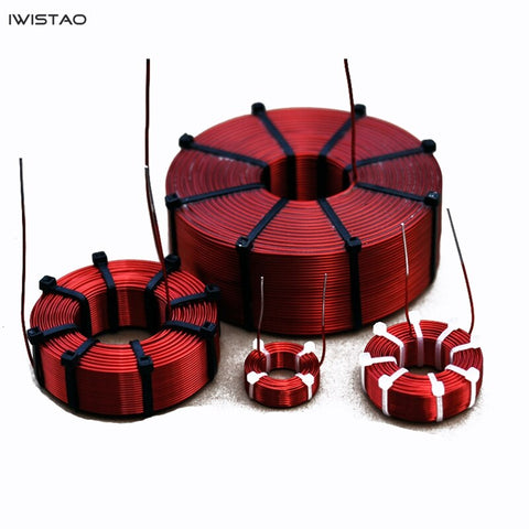IWISTAO Hollow Inductor Coil Oxygen-Free Copper Subwoofer Crossover HIFI Audio customization1.2MH to 64MH