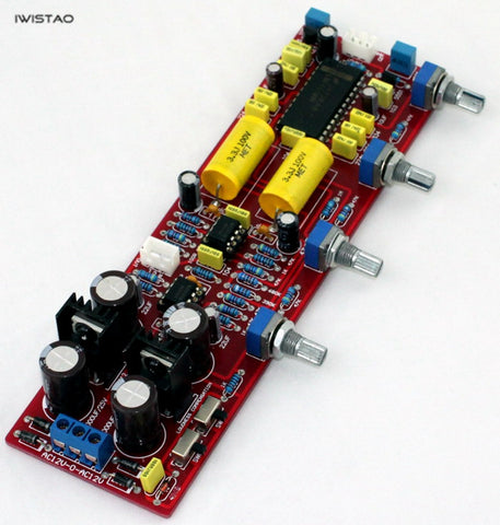 IWISTAO Tone Adjustment Board LM4610 Bass Treble Balance Volume Control Replace LM1036 DIY