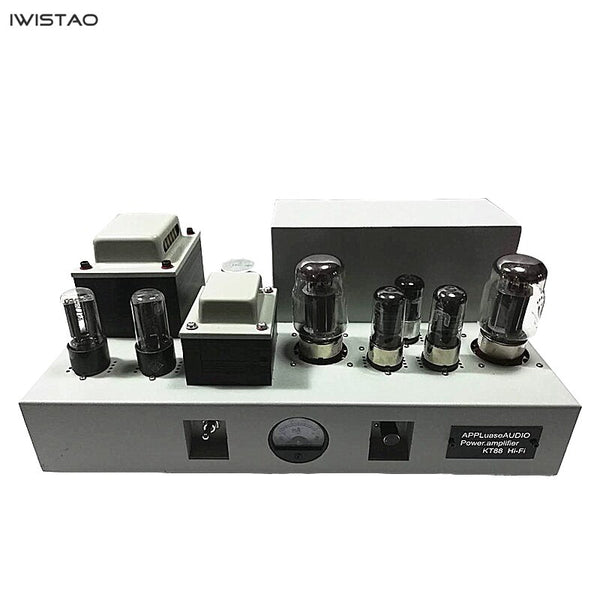 IWISTAO KT88 Single-end HIFI Vacuum Tube Amplifier 2x13W West Electric Master Manual  Scaffolding Soldering