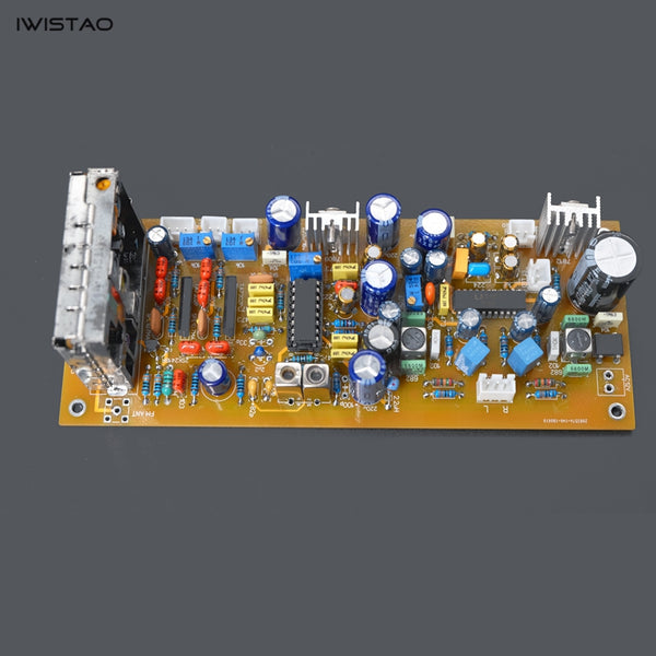 IWISTAO LA1235 FM Stereo Radio Tuner PCBA Finished Board High Frequency FAE317 IF TA7302P Decoder LA3401