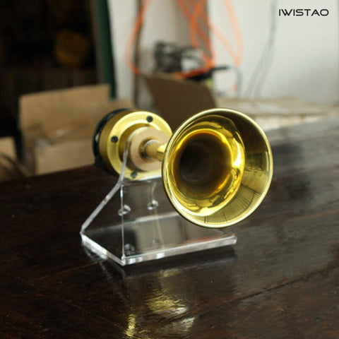 IWISTAO Long 4 inch Supper Tweeter 1 Pair Copper Horn Brass horns Neodymium Copper Film 6Ω 30W 625HZ-40kHz