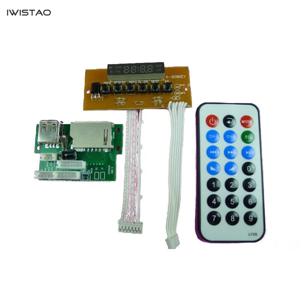 IWISTAO MP3 WAV APE FLAC Decoder Module Lossless Bluetooth Radio Support SD USB Hardware Decoding
