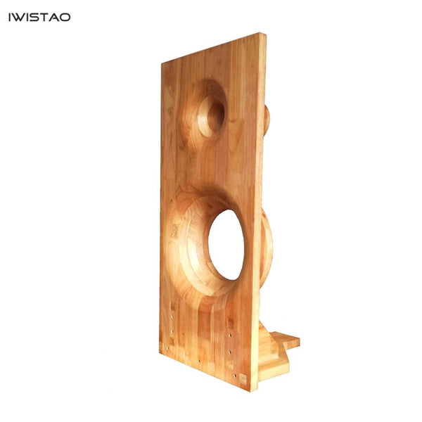 IWISTAO Module Combination Empty Baffle Speaker Tenon 10 inch Bass 4 inch Tweeter Surface Horn Floor Passive Speaker Solid Wood