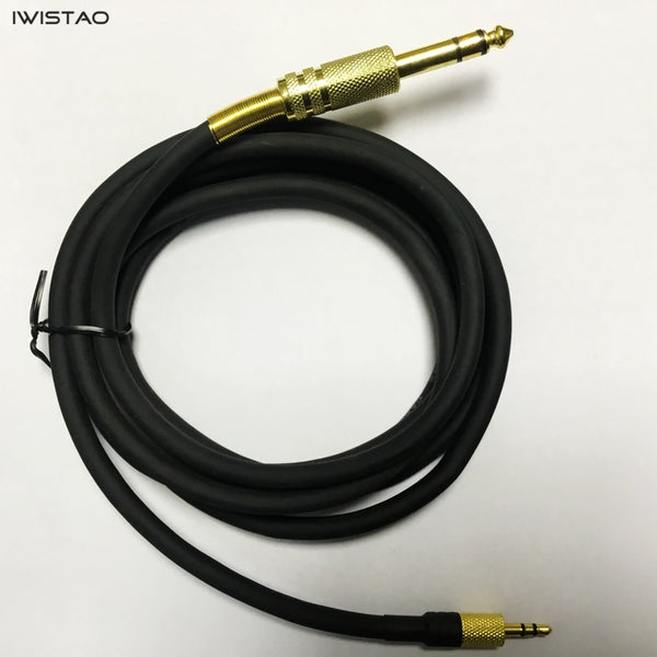 IWISTAO OFC Audio/Video High Grade Cable 6.35mm to 3.5mm Stereo Sound Console Copper 2m to 10m Black